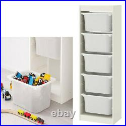Ikea TROFAST Storage Combination With Childrens Play Plastic Boxes White