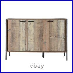 Industrial Large Sideboard 3 Door Cupboard Storage Unit Buffet Console Cabinet