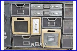 Industrial Multi Coloured Drawer Funky Cabinet / Sideboard Drawers Storage Unit