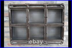 Industrial Pipe Metal Wall Storage Idea Cabinet Design / Retro Unit 6 Shelves