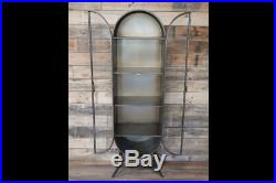 Industrial Reclaimed Metal Display Cabinet Storage Unit Shelves
