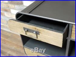 Industrial Retro Vintage Reclaimed Wood Metal Storage Cabinet Sideboard (dx4334)