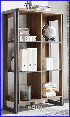 Industrial Style Bookcase Vintage Shelving Unit Small Room Cabinet Storage Shelf
