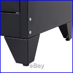 Industrial Style TV Stand Metal Side Board Unit 2 Cupboard Storage Table Cabinet