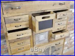 Industrial tallboy 24 drawer Retro style Storage Chest chalkboard chest multi
