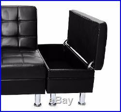 Cool Italian Style Faux Leather Sofa Bed With Storage Cup Inzonedesignstudio Interior Chair Design Inzonedesignstudiocom