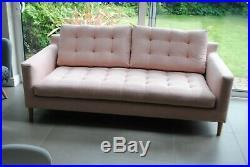 John Lewis Draper Large 3 Seater Sofa Pink In Store RRP £1599 Seconds