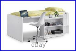 Julian Bowen Neptune 3ft Single Cabin Bed Children's Compact Mid Sleeper Storage