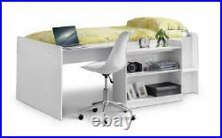 Julian Bowen Neptune 3ft Single Children's Compact Mid Sleeper Cabin Storage Bed