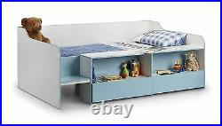 Julian Bowen Stella Low Sleeper Storage Childrens Single 90cm 3FT Bed Blue