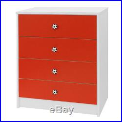 Kids 3 Pc Bedroom Furniture Set Wardrobe Draws Childrens Playroom Storage -7381