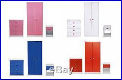 Kids Bedroom Wardrobe Furniture Set / Children's Playroom Children Storage