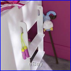 Kids Cabin Bed Storage Drawers Desk Children Deluxe Sleeper Bedroom Furniture