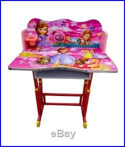 Kids Children Home Study DISNEY PRINCESS Table Storage Cartoon Desk Stool Set