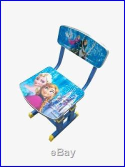 Kids Children Home Study ELSA ANNA FROZEN Table Storage Cartoon Desk Chair Set