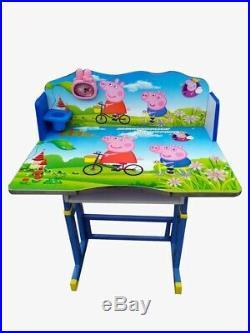 Kids Children Home Study PEPPA PIG Table Storage Cartoon Desk Chair Set