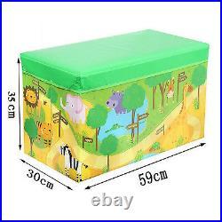 Kids Children Large Zoo/jungle LID Storage Toy Box Girls Boys Book Tidy Chest