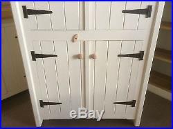 Kitchen Larder Four Door Cupboard Pantry Storage Unit Rustic Farmhouse