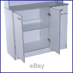 Kitchen Storage Cabinet Table Shelf Organizer Pantry Dining Furniture Microwave