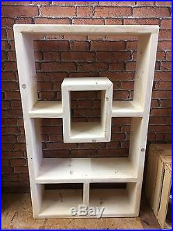 wooden bookcase furniture storage shelves shelving unit. Large Chunky Rustic Wooden Bookcase Handmade Upcycled Wall Shelving Unit  Storage Wooden Bookcase Furniture Storage Shelves Shelving Unit E