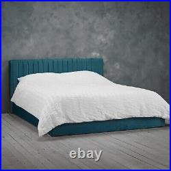 LPD Berlin Teal Velvet Ottoman Storage Bed Contemporary Style 4ft6 Double