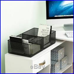 Large Corner Computer Desk Home Office PC Table L Furniture File Storage Cabinet