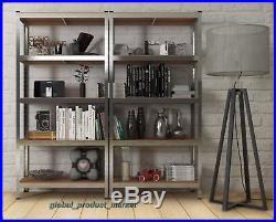 Bookcase Metal Rack Tower