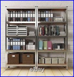 Large Industrial Bookcase Metal Rack Tower Unit 5 Storage Shelves Home Office UK