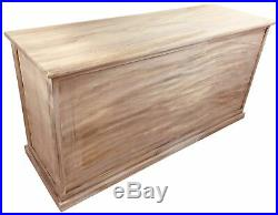 Large Seat Bench Wicker Basket Wooden Wood Storage Rustic Sturdy 101cm