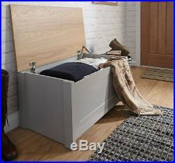 Large Wooden Trunk Vintage Bench Furniture Toys Storage Box Room Blanket Chest