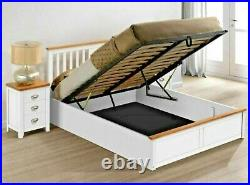 Lavish Shaker Style Solid Wooden Ottoman Storage Bed Frame 4ft6 & 5ft White/oak
