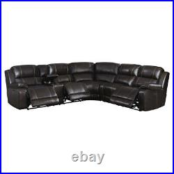 Leather Power Recliner Sofa Corner Sectional Electric Living Room Furniture UK
