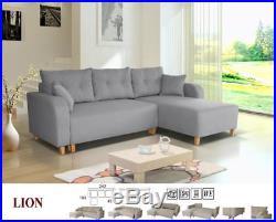 Lion universal corner L-shaped fabric sofa, bed, storage ...