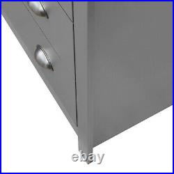 Lisbon Grey 2+2 4 Drawer Chest Storage Bedroom Cabinet Furniture Oak