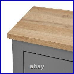 Lisbon Grey 3+4 7 Drawer Chest of Drawers Storage Bedroom Cabinet Furniture Oak