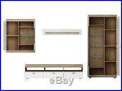 Living Room High Gloss Storage Furniture Tall Unit Modern TV Unit Cabinet PETER