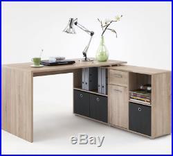 Luna Oak Effect Reversible Computer Desk Storage Drawer Office Furniture 2563
