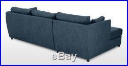 MADE. COM Milner Left Hand Facing Corner Storage Sofa Bed in Harbour Blue