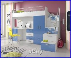 MODERN Children Kids Bedroom Bunk CABIN Bed high gloss ...