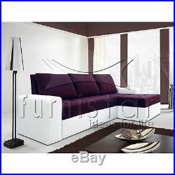 MODERN New Corner Sofa Bed CORONA with storage BONELL SPRINGS POLSKIE NAROZNIKI
