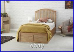 Madrid Solid Wood Ottoman Storage Bed Oak, Grey, White 3ft, 4ft6, 5ft