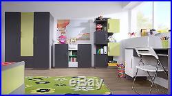 Malibu Teenage and Children Bedroom Furniture (Lime Green / Grey)