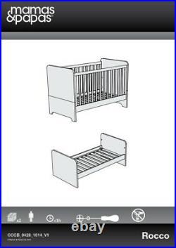 Mamas & Papas Rocco 3 Piece Nursery Furniture Set White (+ Underbed Storage)