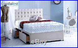 Memory Foam Under Storage Divan Bed Set With Mattress With Free Headboard