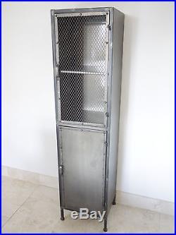 Metal Industrial Display 2 Door Large Cabinet 4 Compartments Storage Cupboard