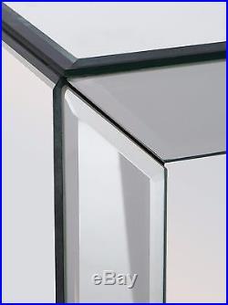 Mirrored Bedside Table Furniture Bedroom Venetian Nightstand 3 Drawers Storage