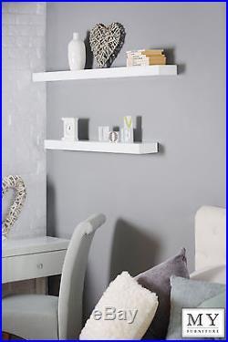 Mirrored Black White glass floating shelf shelves wall storage display