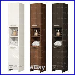 Modern 170cm tall bathroom storage, Cabinet, Matt finish, 2 Doors & 1 Shelf