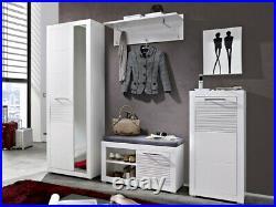 Modern Hallway Furniture Small Storage Cabinet Cupboard White Gloss 1 Door FL