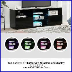 Modern LED TV Unit Cabinet TV Stand Large Storage High Gloss 16 Colors 130cm